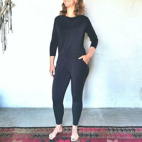 Jumpsuit Waterfall Midnight-Blue - Curare Yogawear
