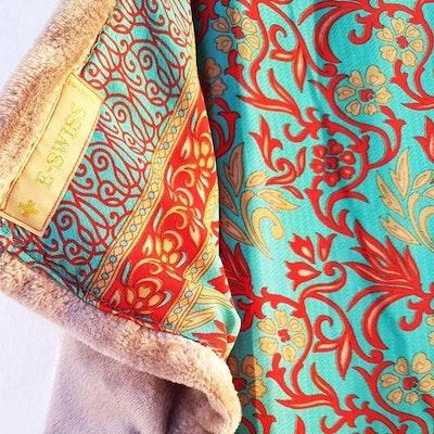 Yogafilt Sari/silke Aqua red - E-swiss