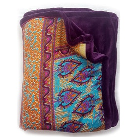 Yogafilt Sari/silke Indian spice purple - E-swiss