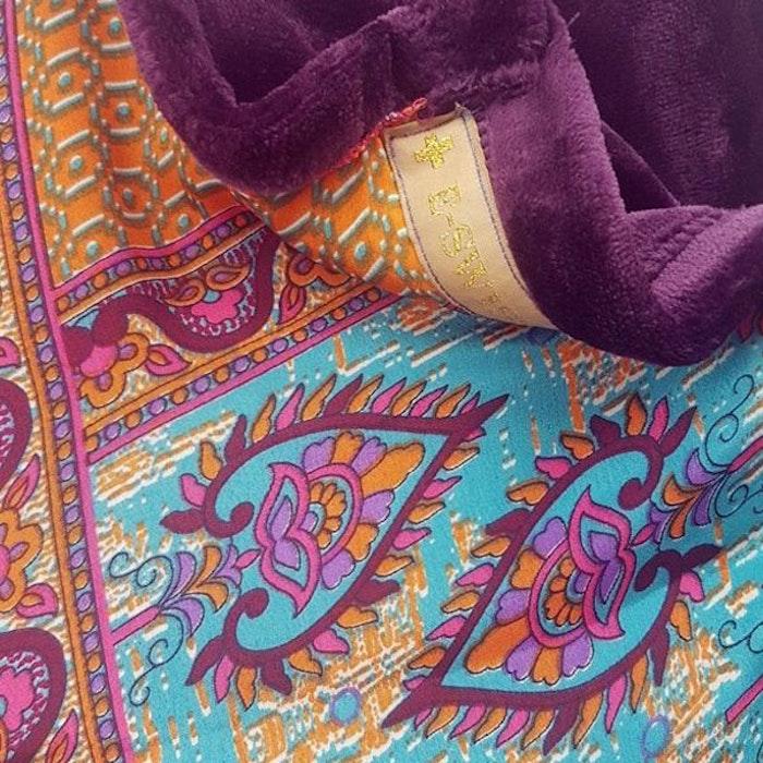 Yogafilt Sari/silke Indian spice purple - E-swiss