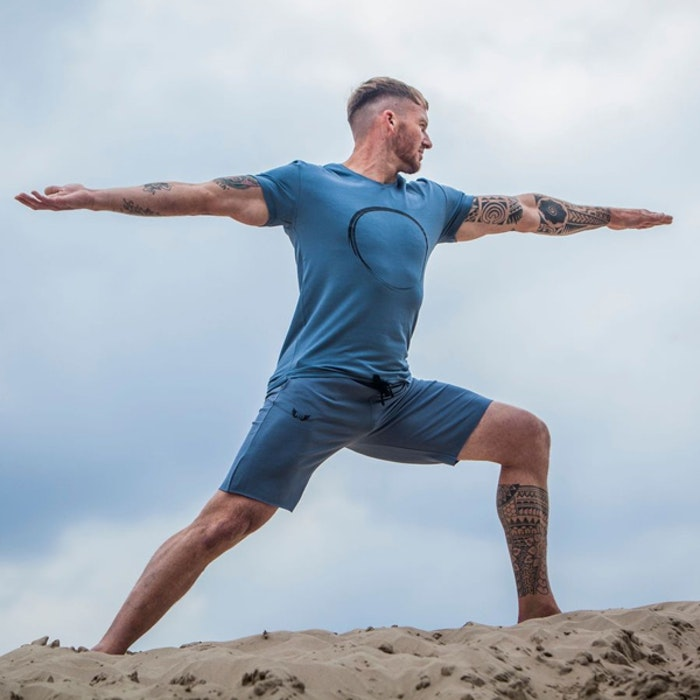 Yogashorts Bodhi Green Earth (blå/grå) - Renegade Guru