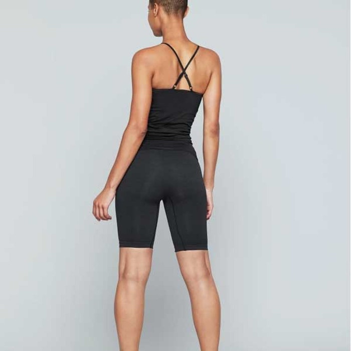 Yogashorts Seamless Biker Onyx Black - Moonchild Yogawear