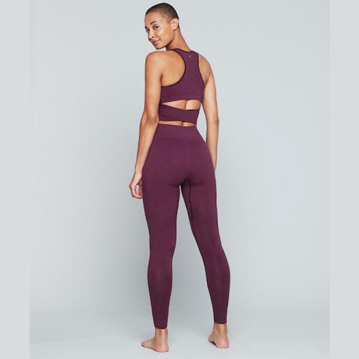 Yogatopp Supernova Twisted top Fig - Moonchild Yogawear