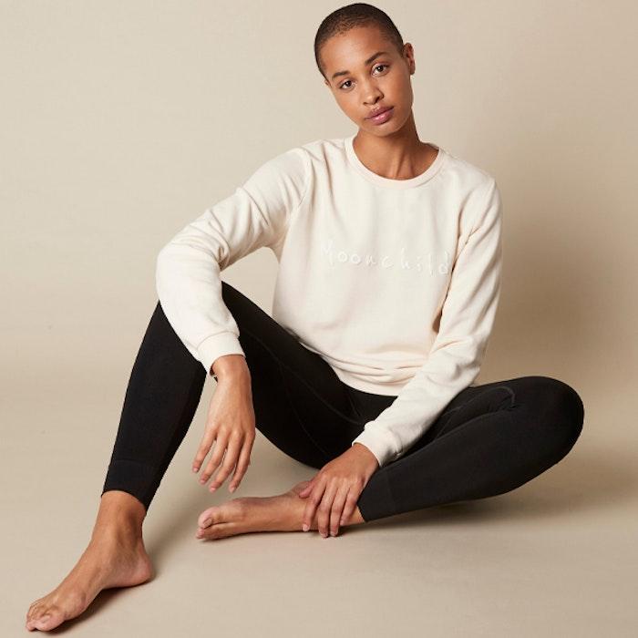 Yogatröja MY Organic Sweatshirts Natural - Moonchild Yogawear