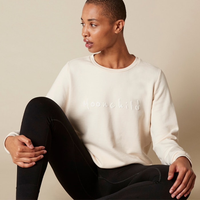Yogatröja MY Organic Sweatshirts Natural - Moonchild Yogawear