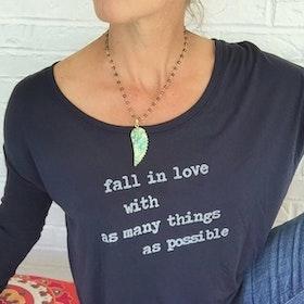 "Tröja lång ärm ""Fall in love..."" - SuperLove Tees"