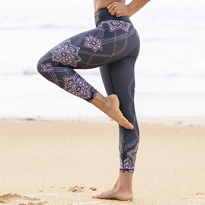 Yogaleggings Acacia Recycled High Waist 7/8 - Dharma Bums