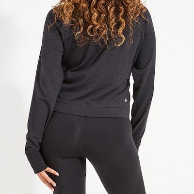 Sweatshirt Arcadia Crop Black - Dharma Bums