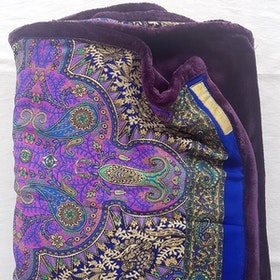 Yogafilt Sari/silke Lila/Blå/Guld - E-swiss