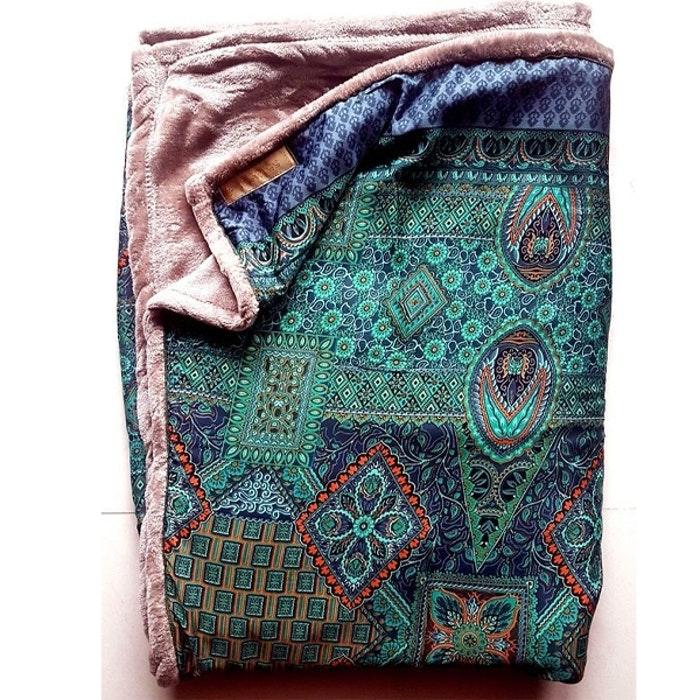Yogafilt Sari/silke Turkos/Blå/Orange - E-swiss