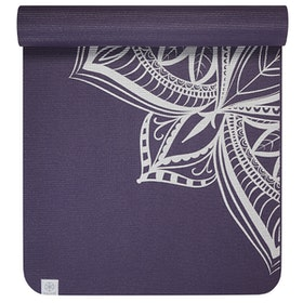 Yoga-Kit Medallion Aubergine & Silver 6mm