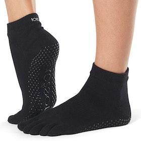 Yogastrumpor Fulltoe Ankle grip Black - ToeSox