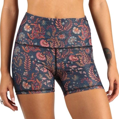 Yogashorts Joey Festival Denim Floral - Yoga Democracy