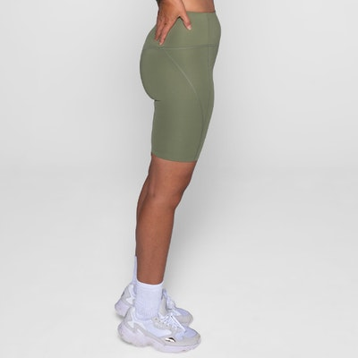 Yogashorts Bike High Rise Olive - Girlfriend Collective