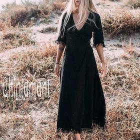 Klänning Atua Tino wrap dress 3/4 Black - Chintamani Alchemi