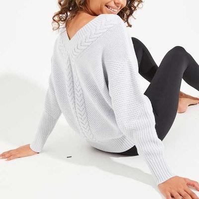 Sweatshirt Eternity Cable Knit Snow (vändbar)- Dharma Bums