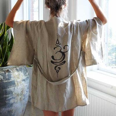 Kimono i linne Breathe short - Santa Ni