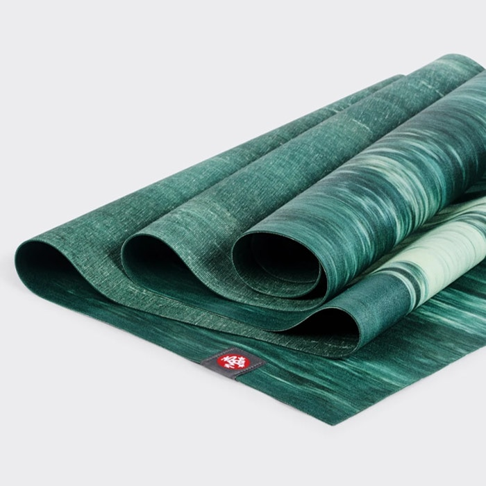 Yogamatta SuperLite Travelmat Deep Forest Marbled - Manduka
