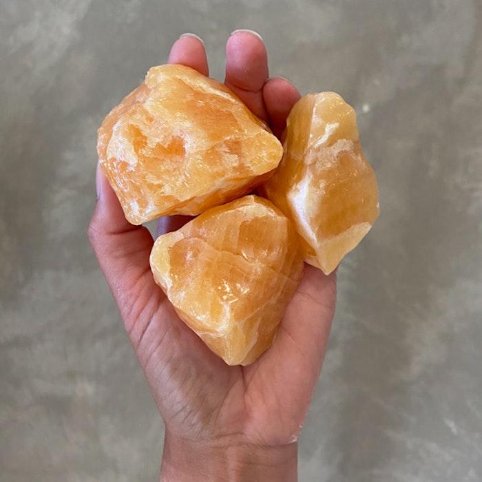 Orange Kalcit Rå XL