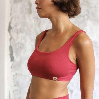 Sport-BH Yoga Boxy Crop top Dark Rose - Indigo Luna
