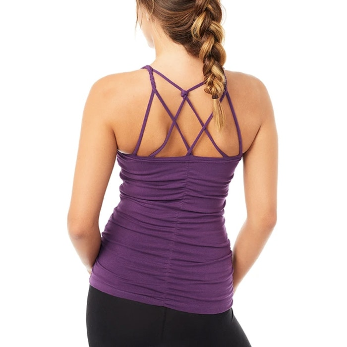 Yogalinne Cable Top Purple - Mandala