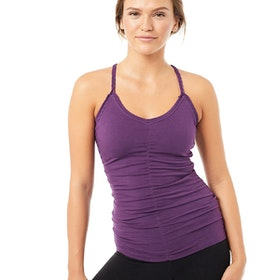 Yogalinne Cable Top Purple - Mandala