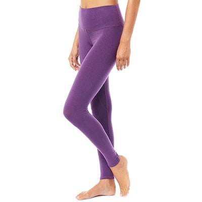 Yogaleggings High Waist Basic Purple - Mandala