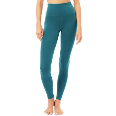 Yogaleggings High Waist Basic Tropical Green - Mandala