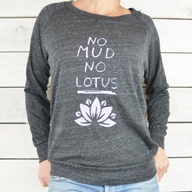 Tröja No Mud, No Lotus från SuperLove Tees