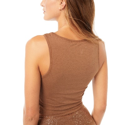 Crop Top Sparkling Velvet Brown - Mandala
