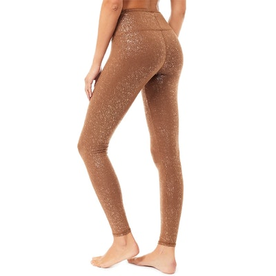 Yogaleggings Sparkling Tights Velvet Brown - Mandala