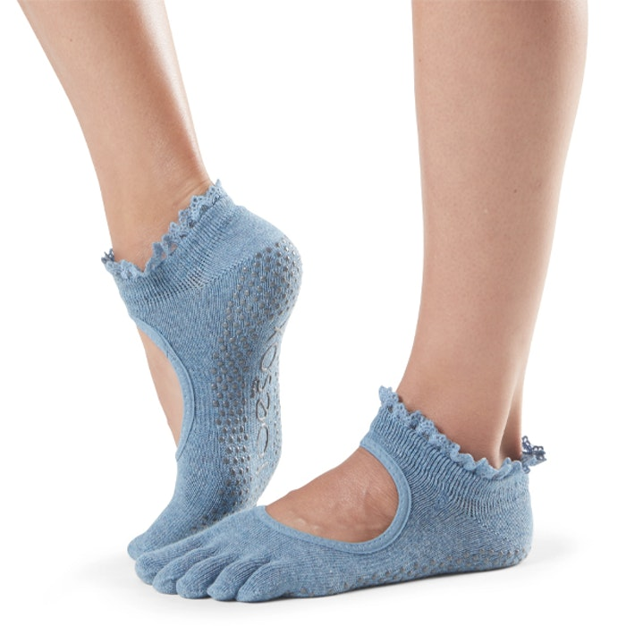 Yogastrumpor Fulltoe Bella Grip Denim Lace - ToeSox