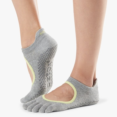 Yogastrumpor Fulltoe Bellarina Grip Heather Lime Grey - Toesox