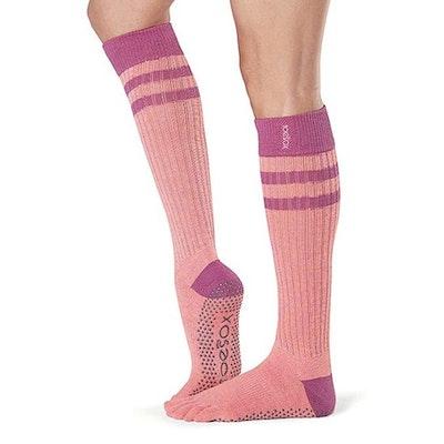 Yogastrumpor Fulltoe Scrunch Knee Grip Heat - ToeSox