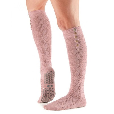 Yogastrumpor Knee High Stella Grip Tavi Blush - Tavi Noir