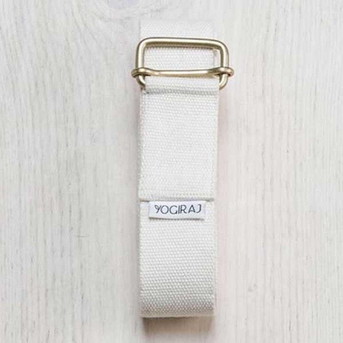 Yoga bälte Långt White från YogiRaj