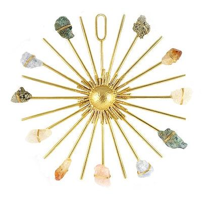 Kristall Healing  grid Rainbow Sunburst Gold - Ariana Ost