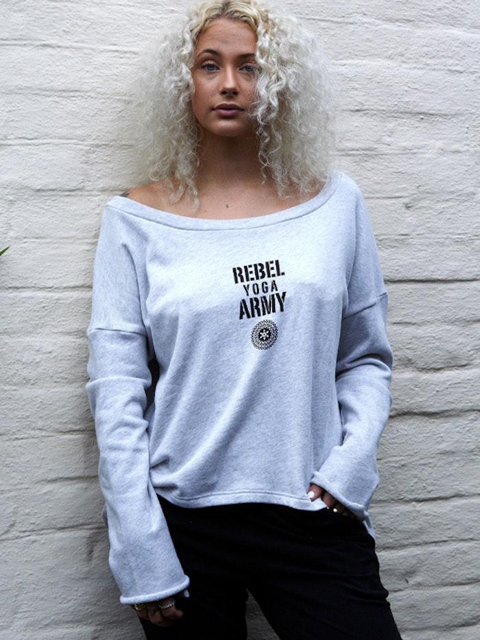 Tröja Yoga Army Soft Grey - Santa Ni