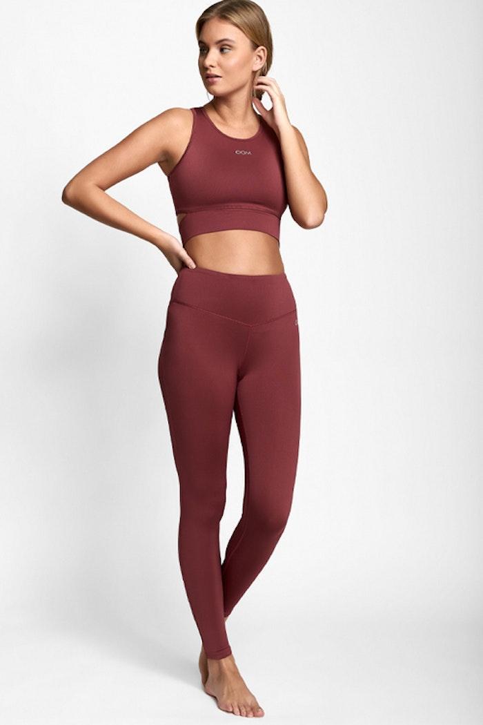 Sport-BH Yoga Melanie Dark Rose - DOM
