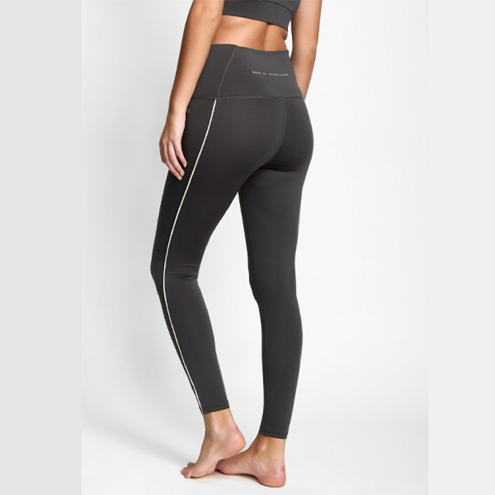 Yogaleggings Eden Piped Ash Grey - DOM