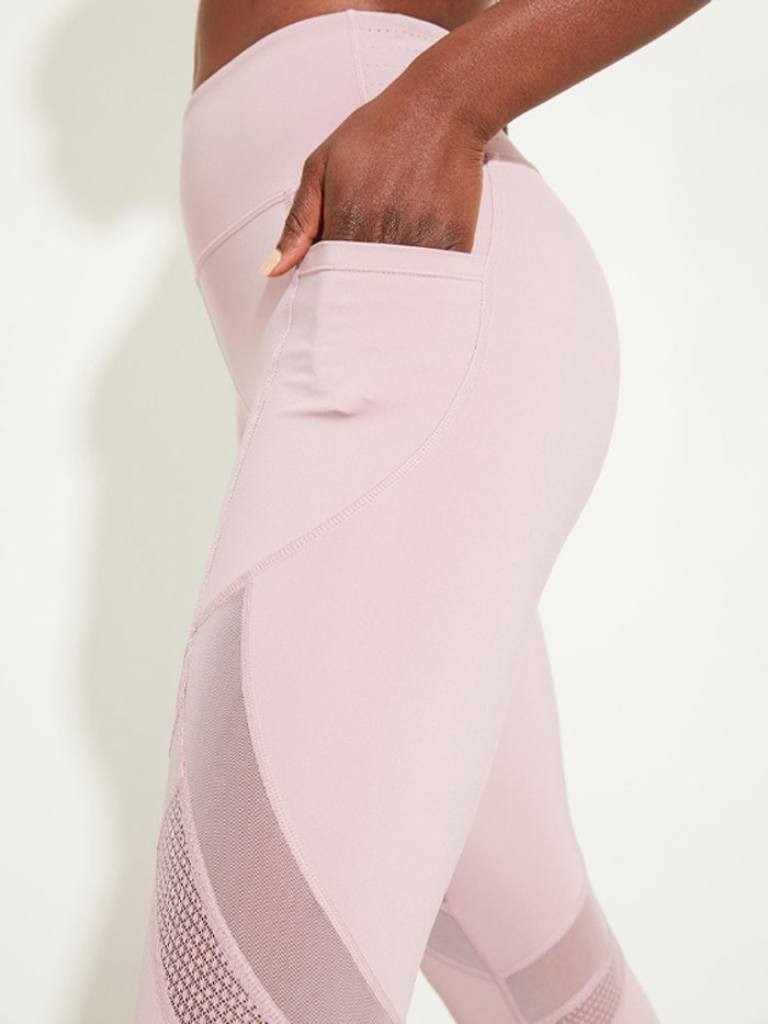 Yogaleggings Daybreak Dusty Mauve Pocket 7/8 - Dharma Bums