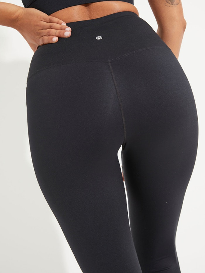 Yogaleggings High Waist Black 7/8 - Dharma Bums