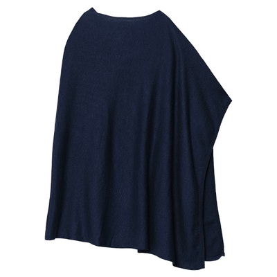 Poncho Petrina Dark Blue - Movesgood