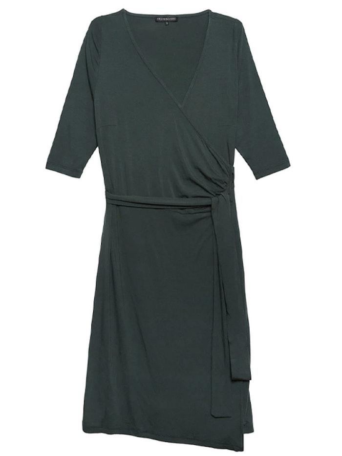 Klänning Ommy Wrap Dress Green - Movesgood
