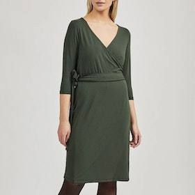Klänning Ommy Wrap Dress Green - Movesgood