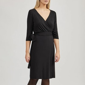 Klänning Ommy Wrap Dress Black - Movesgood