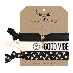 Hairties hårband/armband Vibes - Love Ibiza