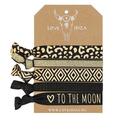 Hairties hårband/armband Gold Leopard - Love Ibiza