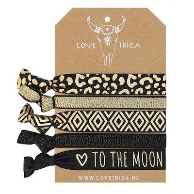 Hairties hårband/armband Gold Leopard - Love Ibiza