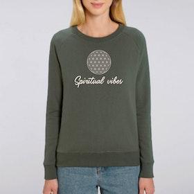 """Sweatshirt """"Spiritual Vibes"""" Khaki - Yogia"""